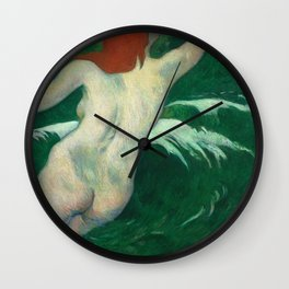 "Paul Gauguin ""In the waves"" or ""Ondine"" Wall Clock"