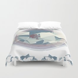Astronaut and ice planet Duvet Cover