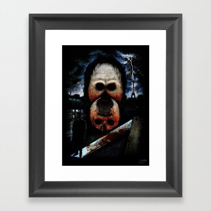 """The Murders in the Rue Morgue"" - Edgar Allan Poe Series Framed Art Print"