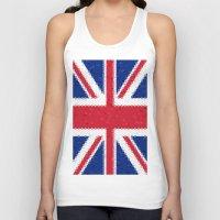 british flag Tank Tops featuring British flag mosaic by Zora Zora