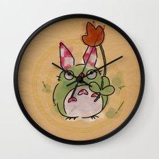 A kockas fulu nyultoro Wall Clock
