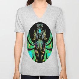 Aztec Malachite Dragon Calender Unisex V-Neck