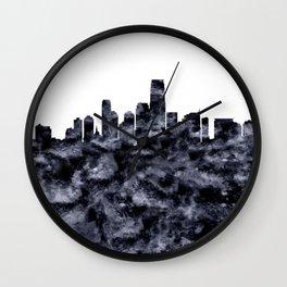 Jersey City Skyline New Jersey Wall Clock