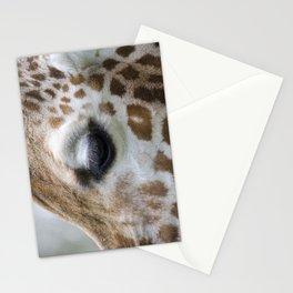 Eye of giraffe Stationery Cards