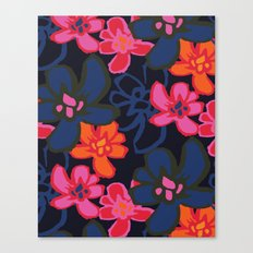 Camelia Woodcut - Winter Canvas Print