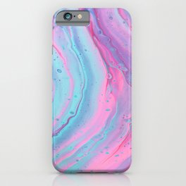Pink & Blue Marble Pattern iPhone Case