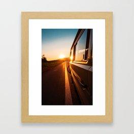 Sunset Travels Van (Color) Framed Art Print
