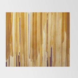 Sundried stripes Throw Blanket