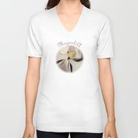 magnolia V-neck T-shirts featuring Magnolia by Deepti Munshaw
