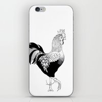 cock iPhone & iPod Skins featuring Cock by Quentin Rice