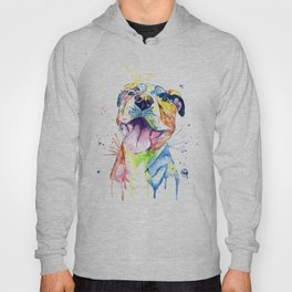 Pit Bull, Pitbull Watercolor Painting - The Softer Side Hoody