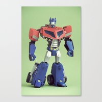 optimus prime Canvas Prints featuring Optimus Prime (Animated) by Fanboy30
