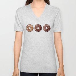 Chocolate Donuts Pattern Unisex V-Neck