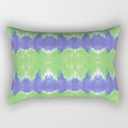 Summer Vibes Tie Dye in Lime Blue Rectangular Pillow