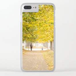 Walking under the trees in Autumn I Clear iPhone Case