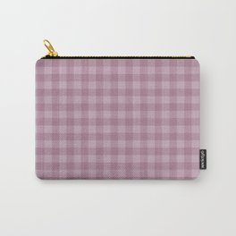 Pink gray simple plaid patterns . Carry-All Pouch