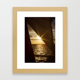 Sunset from the boat Framed Art Print