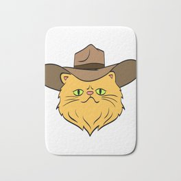 Hey! A Perfect Gift for Cat Lovers A Persian Cat Hat T-shirt Design Kitty Kitten Meow Paws Animals Bath Mat