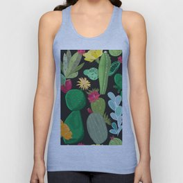 Cactus and Succulents Pattern Unisex Tank Top