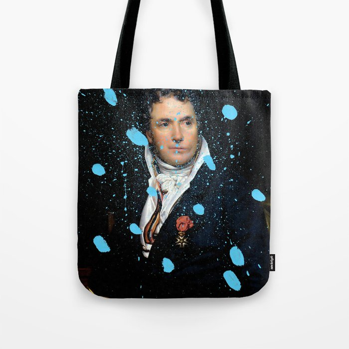 Brutalized Portrait of a Gentleman Tote Bag