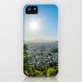 City, pollution, landscape iPhone Case