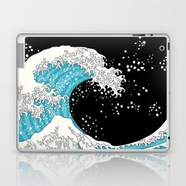 The Great Wave (night version) Laptop & iPad Skin