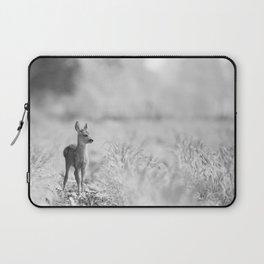 Baby Deer (Black and White) Laptop Sleeve
