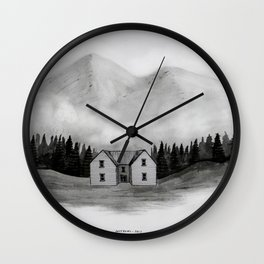 lonely house Wall Clock