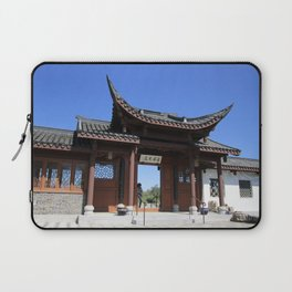 Courtyard at Chinese Garden #1 Laptop Sleeve