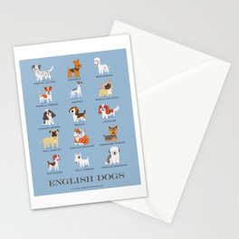 ENGLISH DOGS Stationery Cards