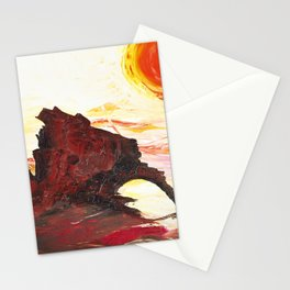 Landscape painting- The Indian - by LiliFlore Stationery Cards
