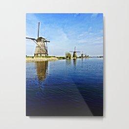 Windmills Holland Metal Print