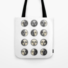 moon phases and romanticism Tote Bag