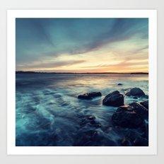 Sunset on the Breakwater Art Print