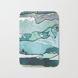 Snowboarding sessions Bath Mat