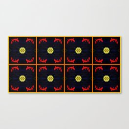 Koi Ying and Yang - Symmetrical Art2 Canvas Print