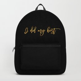 My Best Backpack