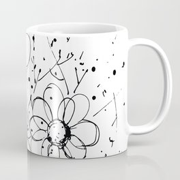 Scribble Doodle Flowers No.7A by Kathy Morton Stanion Coffee Mug
