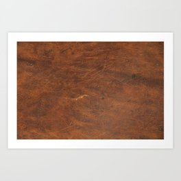 Old Tan Leather Print Texture | Cowhide Art Print