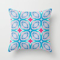 clover Throw Pillows featuring Clover by Truly Juel