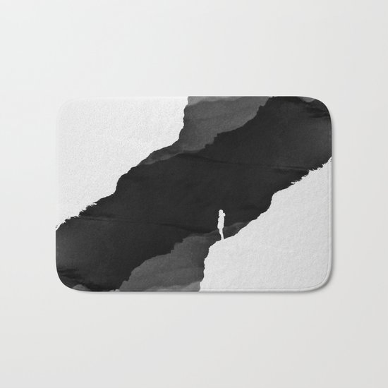 Black Isolation Bath Mat