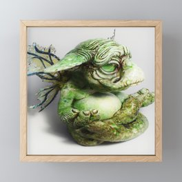 Ebert the goblin - side profile Framed Mini Art Print