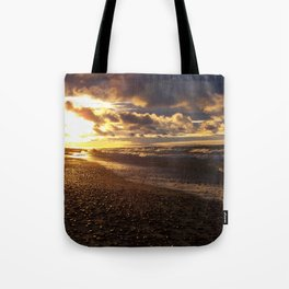 Stormy  Superior Sunset Tote Bag