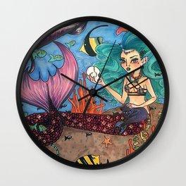 Dark Mermaid Wall Clock
