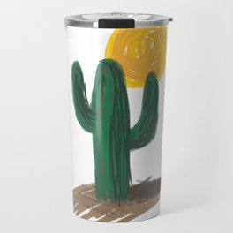 Cactus and Sun Travel Mug