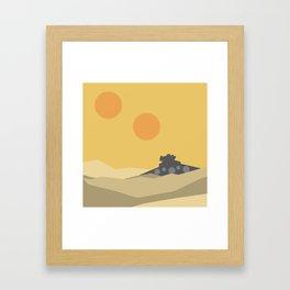 Desert Crash Framed Art Print