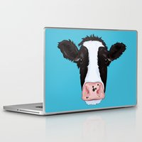 cow Laptop & iPad Skins featuring Cow by Compassion Collective