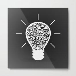 House a bulb Metal Print