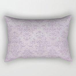 Vintage chic violet lilac floral damask pattern Rectangular Pillow