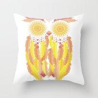 coachella Throw Pillows featuring Coachella by Dulce Velasco